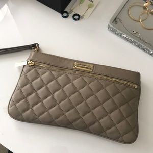 6974327cf61051 Michael Kors Bags | Micheal Kors Brown Wristlets With Gold Accents ...